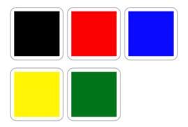 Penstick Kleuren A4 (zwart vanaf wo. 25 11)