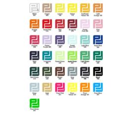 Pakket Flexfolie  (32 kleuren) A4