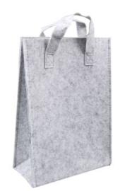 Vilten tas hoog Licht grijs (23 x10x33)