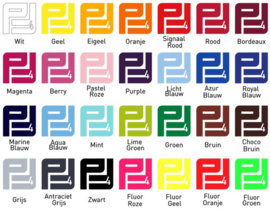 Pakket Flockfolie (24 kleuren) A4