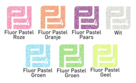 Pakket flexfolie glitter Fluor pastel  (7 vel) A4
