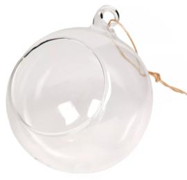 Glazen bal met opening (ook te gebruiken als kestbal)