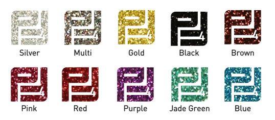 Pakket flexfolie glitter basis kleuren (10 vel)  30 x 50 cm