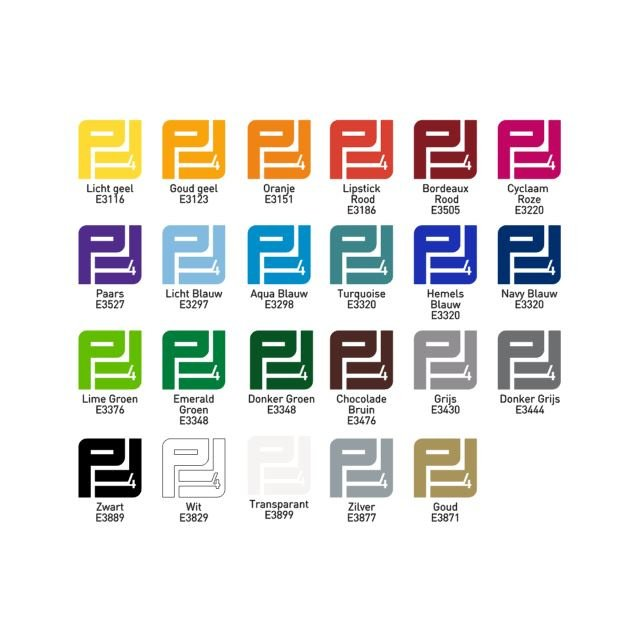 Zelfklevend vinyl kleuren  Glans 5 m x 0,61 m