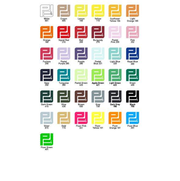 Pakket Flexfolie (32 kleuren) 1 m x 0,50 m