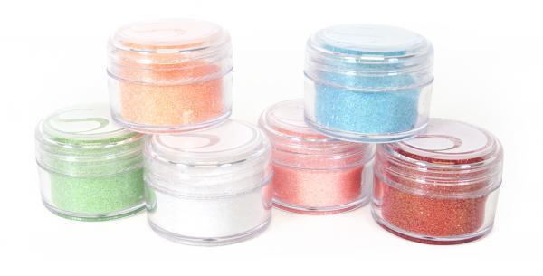 Silhouette Glitter pastel colors (6 potjes(3))