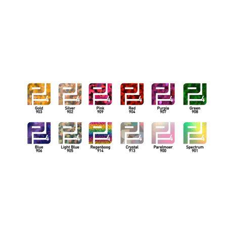 Pakket Flexfolie holografisch ( 12 kleuren ) 30 cm x 50 cm