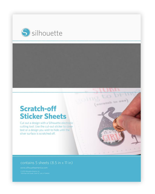 Scratch off stickersheets SILVER