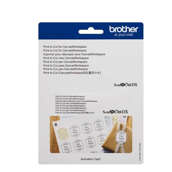 Brother SDX  Print to Cut for Canvas Workspace activatiekaart