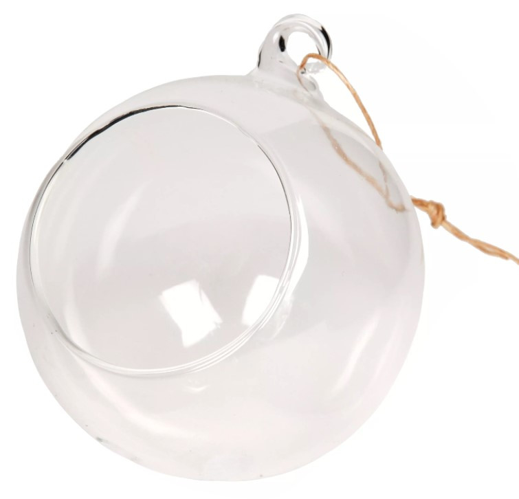 Glazen bal van glas met opening 10 cm (6 stuks)