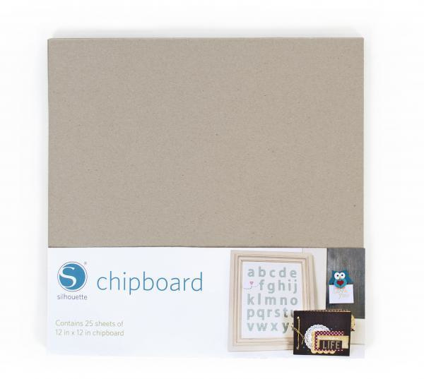 "12"" x 12"" chipboard 25-pack"