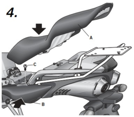 Yamaha FZ6 Fazer 600 04-12 Y0FZ64ST rek