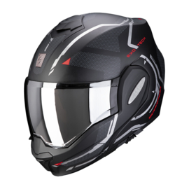 Scorpion Exo Tech Square mat zwart/rood motorhelm