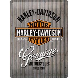 Emaille bord retro Harley Davidson