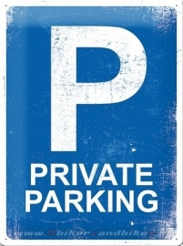 Tin Signs Private Parking
