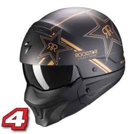 Scorpion EXO Combat EVO motorhelm Rockstar