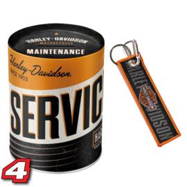 Harley Davidson Spaarpot en sleutelhanger