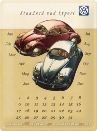 Tin Signs VW Beetle Kalender