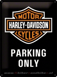 Tin Signs Harley Davidson Parking Only