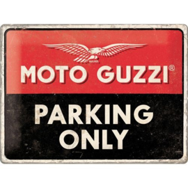 Emaille bord Moto Guzzi parking Only