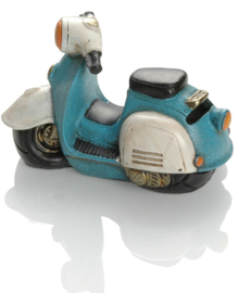 Booster Gifts spaarpot scooter blauw