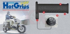 Oxford Hot Grips scooter/brommer 22MM