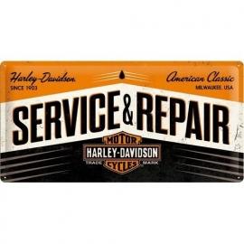 Tin Signs Harley Davidson service and repair (25x50)