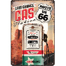 Emaille bord Route66 Gasoline
