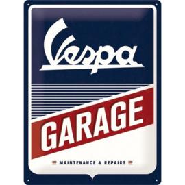 Emaille bord Vespa Garage