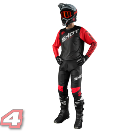Shot Devo Slam Motorcross Shirt Red/Black