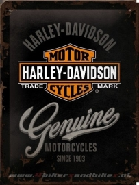 Tin Signs Harley Davidson Genuine