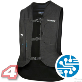 Helite E-Turtle airbag vest zwart