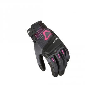 Macna Jugo  zwart/roze dames motrohandschoen