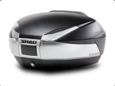 SHAD SH48 topkoffer zwart/zilver