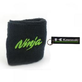 Kawasaki Ninja remreservoir sok + Kawasaki sleutelhanger
