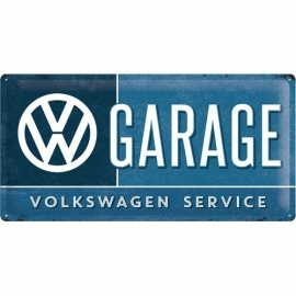 Tin Signs Volkswagen service and repair (25x50)