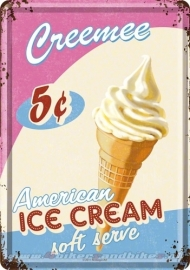 Tin Signs American Ice Cream