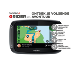 Tomtom Rider 550 + Lifetime maps