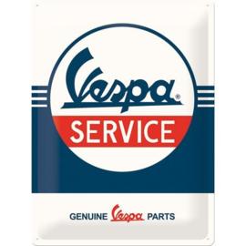 Emaille bord Vespa Service