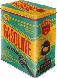 Gasoline voorraadblik