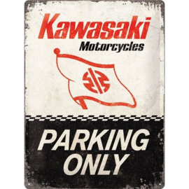 Emaille bord Kawasaki parking Only