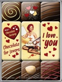 Magneten - I love you chocolates