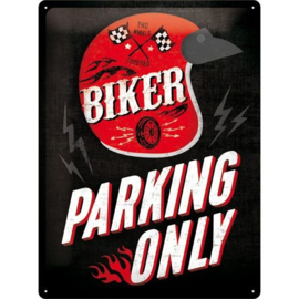 Emaille bord Biker Parking Only