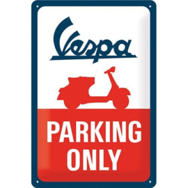 Emaille bord Vespa Parking Only