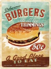 Tin Signs Burgers