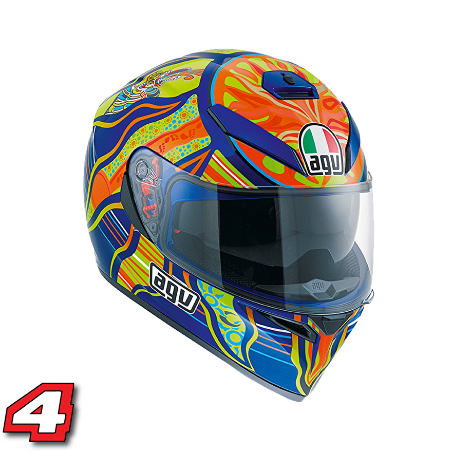 valentino rossi helm agv k3 five continents