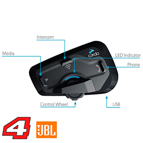 cardo scala rider freecom 4+ bluetooth motorcommunicatie