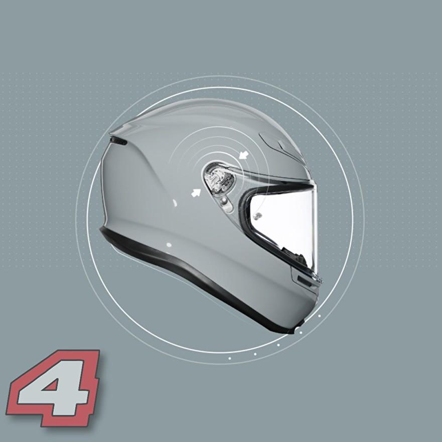 agv k6 motorhelm