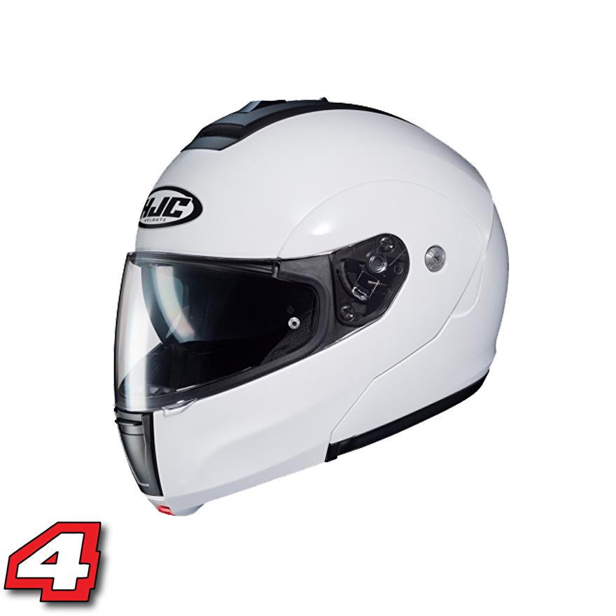 hjc c90 systeem motorhelm wit