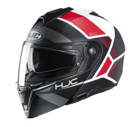 hjc i90 zwart rood wit